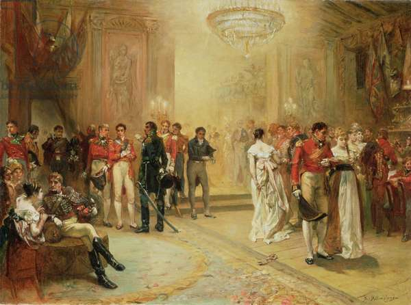 The Duchess of Richmond's Ball on the 15th June 1815 (oil on canvas)