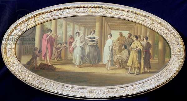 A Dance in Raiatea (oil on canvas)