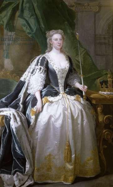 Queen Caroline (oil on canvas), born Caroline of Ansbach (1683-1737)