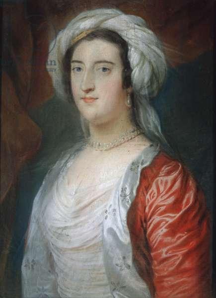 Caroline (1723-74) 1st Lady Holland, c.1745 (pastel on paper)