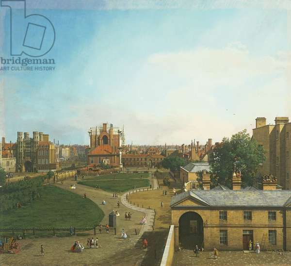Whitehall and the Privy Garden from Richmond House,