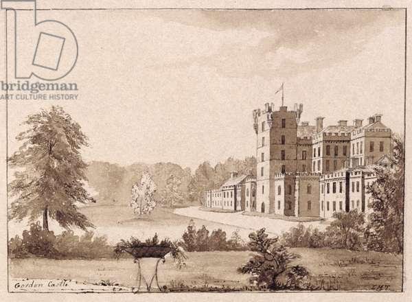Gordon Castle (pen & ink and ink wash on paper)