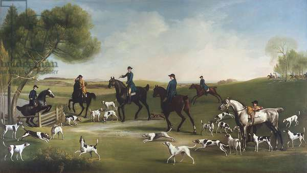 The 3rd Duke of Richmond with the Charlton Hunt, 1759-60 (oil on canvas)