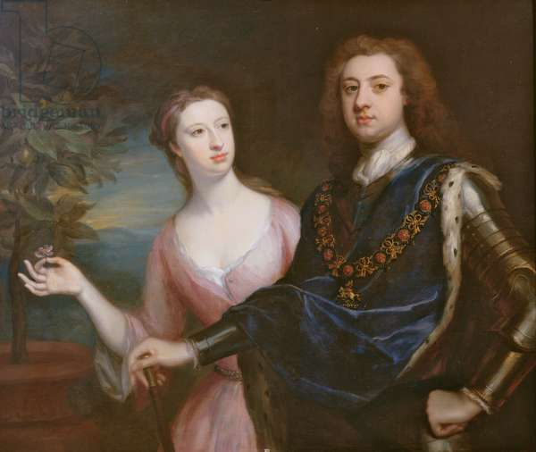 The 2nd Duke and Duchess of Richmond (oil on canvas) (see also 271447)