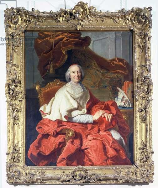 Cardinal Fleury (1653-1743) (oil on canvas)