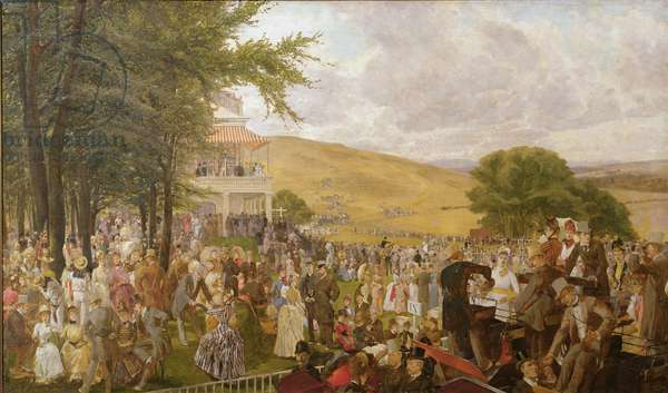 The Lawn at Goodwood, 1886 (oil on canvas)