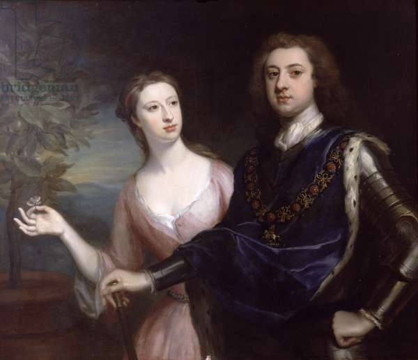 The 2nd Duke and Duchess of Richmond (oil on canvas)