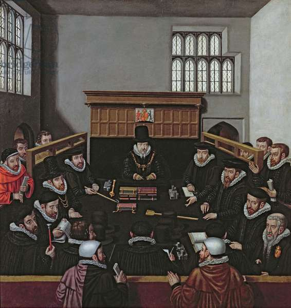The Court of Wards (oil on canvas)