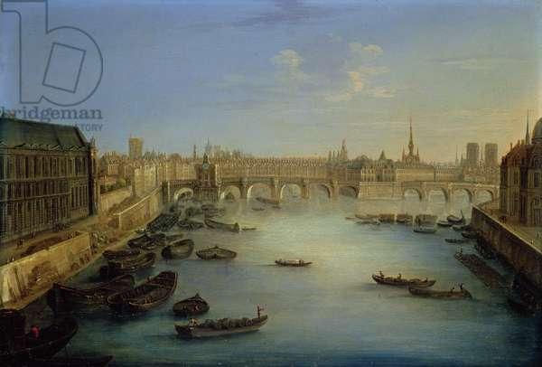 View of Paris (oil on metal)