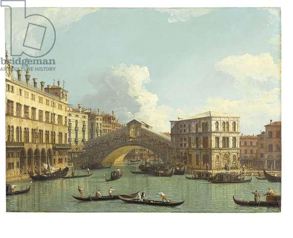 Venice, The Rialto Bridge, seen from the North, 1727 (oil on copper)