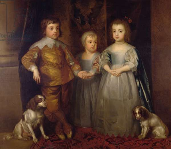 Prince Charles, Prince James and Princess Mary (oil on canvas)