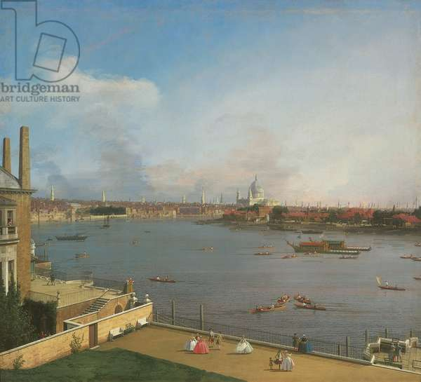 View of the Thames, from Richmond House (oil on canvas)