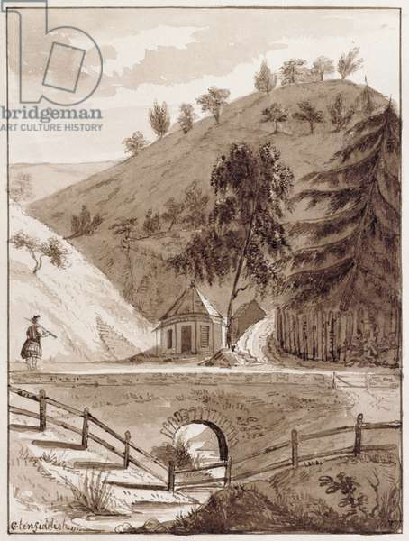 Bridge at Glenfiddich (pen & ink and ink wash on paper)