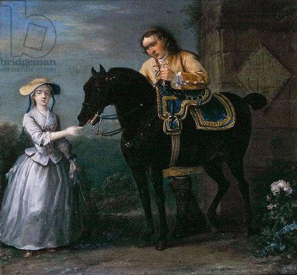Lady Georgina Caroline Lennox, with Pony and Attendant, 1733 (oil on panel)