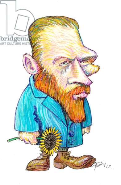 Vincent van Gogh, 2012 (ink and coloured pencil on paper)