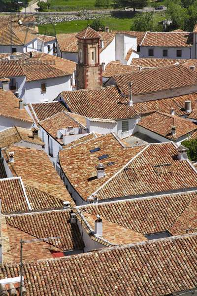 Spain - Andalusia - Grazalema, white village, roofs