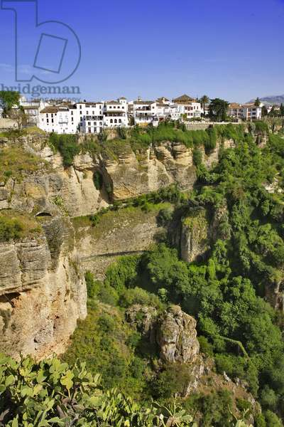 Spain - Andalusia - town of Ronda, erigee on a rocky plateau