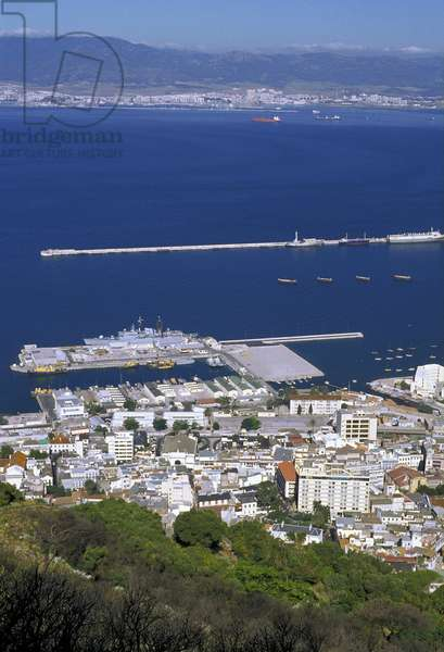 Gibraltar: view of the harbour