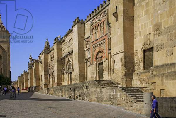 Spain - Andalusia - Córdoo - the walls of the cathedral mosque