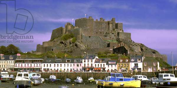Anglo - Norman Islands: Jersey: Port of Gorey and Castle of Mont Prigueil