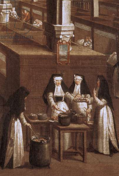 Belgium N* 039: Bruges: Museum of the St. John Hospital: Detail painting