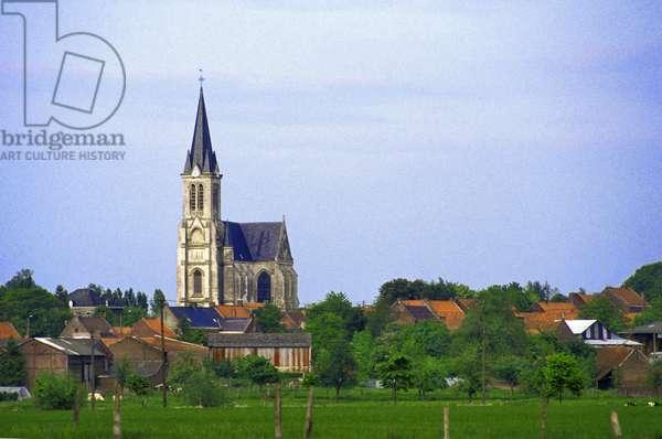 France - North - (department 59) - village of Bouvines