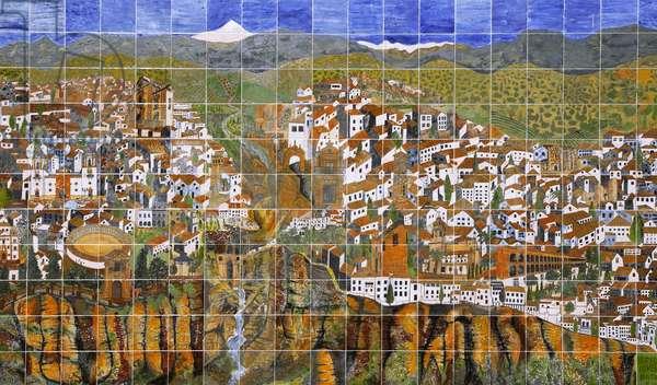 Spain - Andalusia - city of Ronda - mosaic