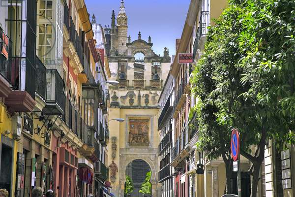 Spain - Andalusia - Seville - street from downtown