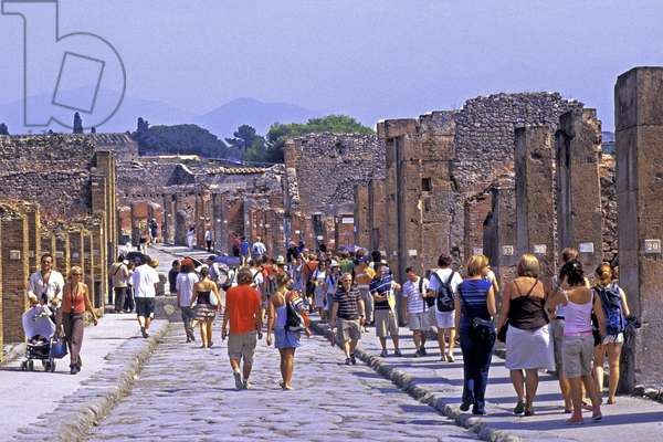 Italy 019: Archaeological Site of Pompei at the foot of the Vesuve: Cultural Tourism: General View
