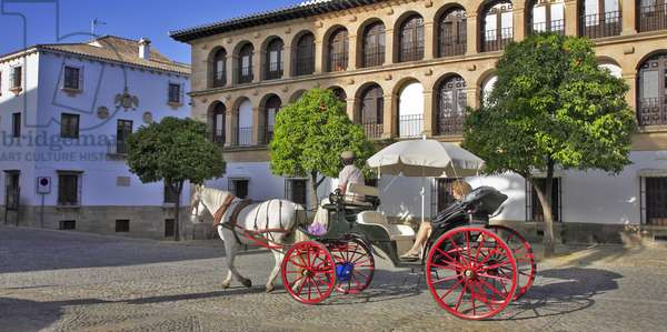 Spain - Andalusia - town of Ronda - carriage ride