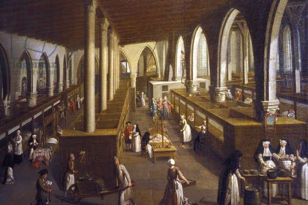 Belgium N* 041: Bruges: Musee de l'Hopital St John: Representation of the grand hall of the infirmary
