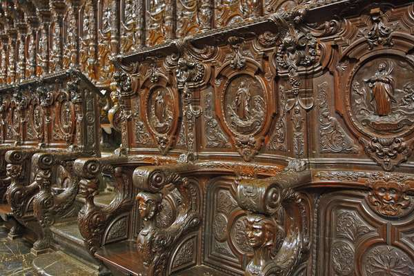 Choir stalls, Mosque-Cathedral or Mezquita, Cordoba, Andalusia (photo)