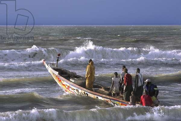 Senegal, St Louis, Beach on the Barbary Language (Watch Ddar)