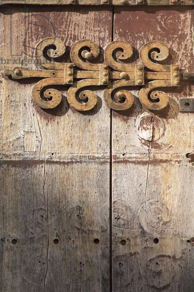 Spain - Andalusia - city of Ronda - old door and fittings