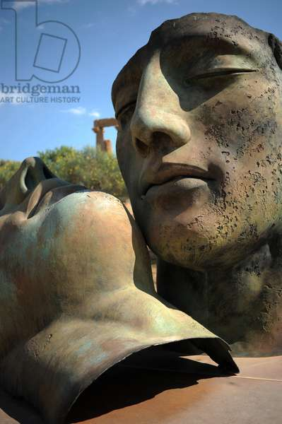 Igor Mitoraj's Sculpture in the Valley of the Temples, Exhibition 2011-2013, Agrigento, Sicily, Italy (photo)