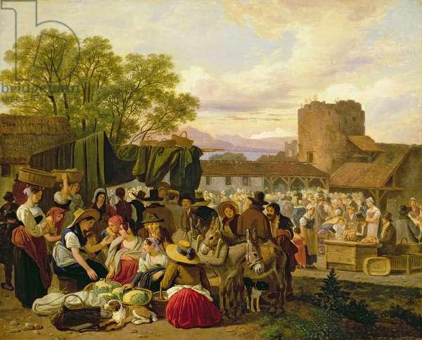 An Italian Market Scene