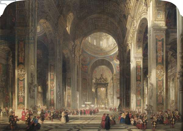Interior of St Peter's, Rome, 1862 (oil on canvas)