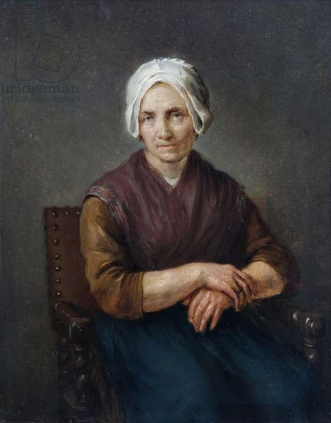 Portrait of a Seated Peasant Woman (oil on canvas)