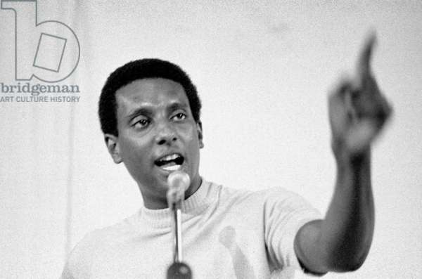 Stokely Carmichael, Roundhouse, London, 1967 (b/w photo)