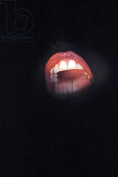 Samuel Beckett 's play 'Not I'. The mouth