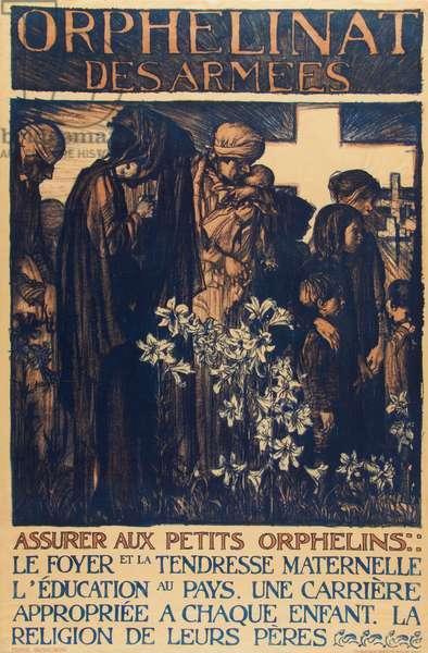 Orphelinat des Armees 2, 1916 (colour litho)