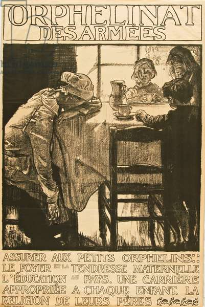 Orphelinat des Armees 1, 1916 (litho)