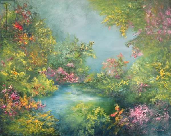 Tropical Impression, 1993 (oil on canvas)