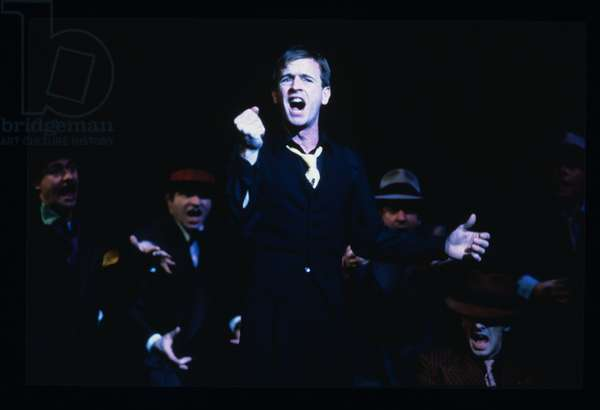 Ian Charleson as Sky Masterson in 'Guys and Dolls' at the National Theatre, 1982 (photo)