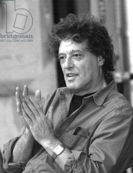 Sir Tom Stoppard,  British playwright, September 1997 (b/w photo)