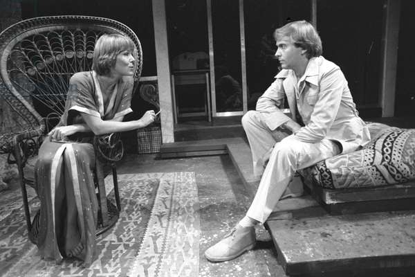 Diana Rigg and Peter Machin in Tom Stoppard 's play