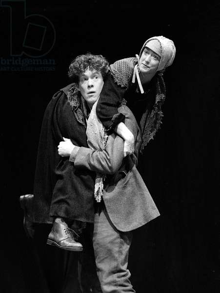 Alex Jennings (Peer Gynt) in Peer Gynt by Henrik Ibsen, an RSC production, directed by John Barton, Swan Theatre, Stratford, 1994 (b/w photo)