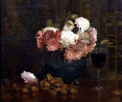 Nuts and Wine, 1891 (oil on board)