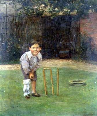 The Young Cricketer, 1904 (oil on canvas)