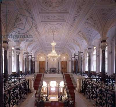 The Entrance Hall and Grand Staircase, designed by Andrei Stakenschneider (1802-65) completed 1861 (photo)